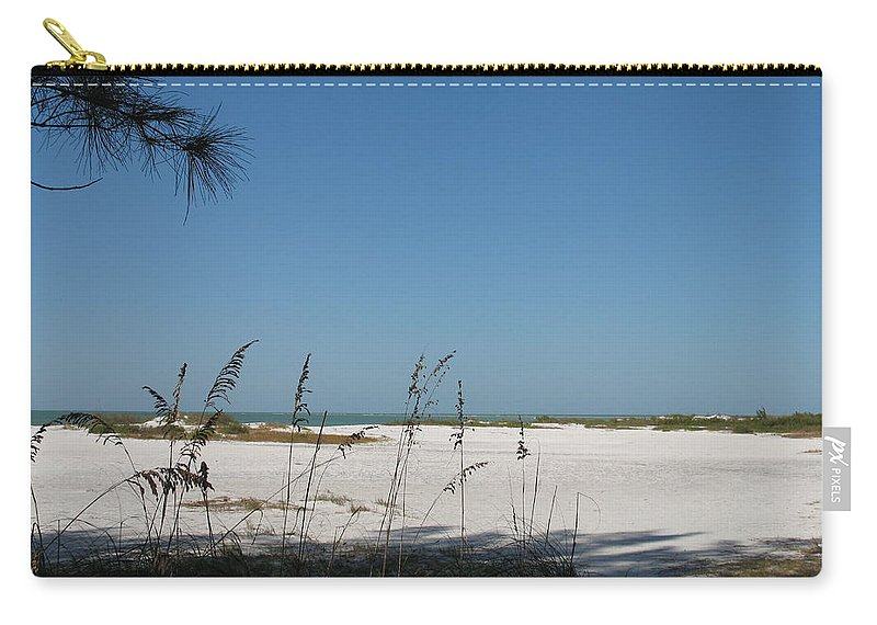 Beach Carry-all Pouch featuring the photograph Whitesand Beach by Christiane Schulze Art And Photography