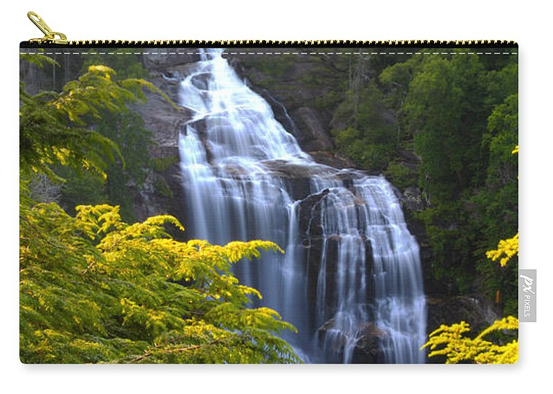 Whitewater Falls Carry-all Pouch featuring the photograph Whitewater Falls by Nunweiler Photography