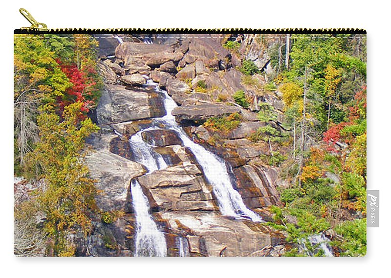 Waterfalls Carry-all Pouch featuring the photograph Whitewater Falls Vertical by Duane McCullough