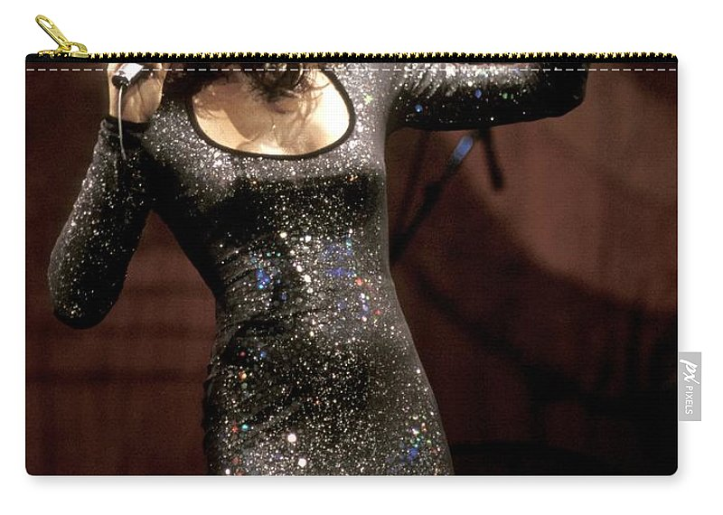 Ballads Carry-all Pouch featuring the photograph Whitney Houston by Concert Photos