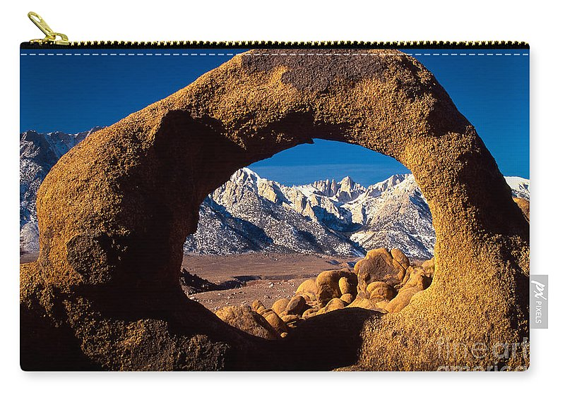 Alabama Hills Carry-all Pouch featuring the photograph Whitney Portal by Inge Johnsson