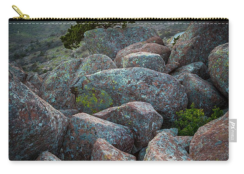 America Carry-all Pouch featuring the photograph Wichita Mountains by Inge Johnsson