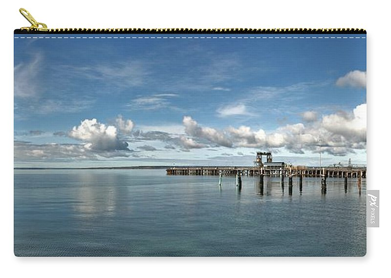 Jetty Carry-all Pouch featuring the photograph Wide View Of Kingscote Bay by Stephen Mitchell