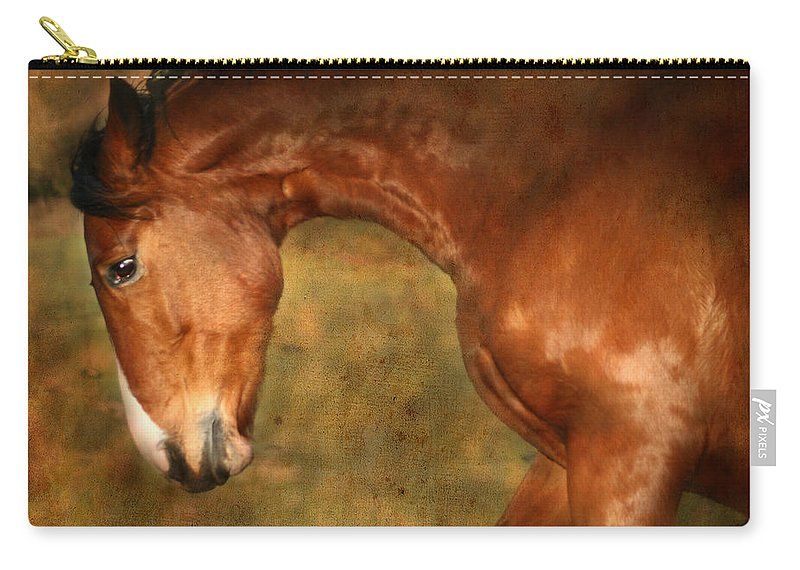 Horse Carry-all Pouch featuring the photograph Wild by Angel Ciesniarska