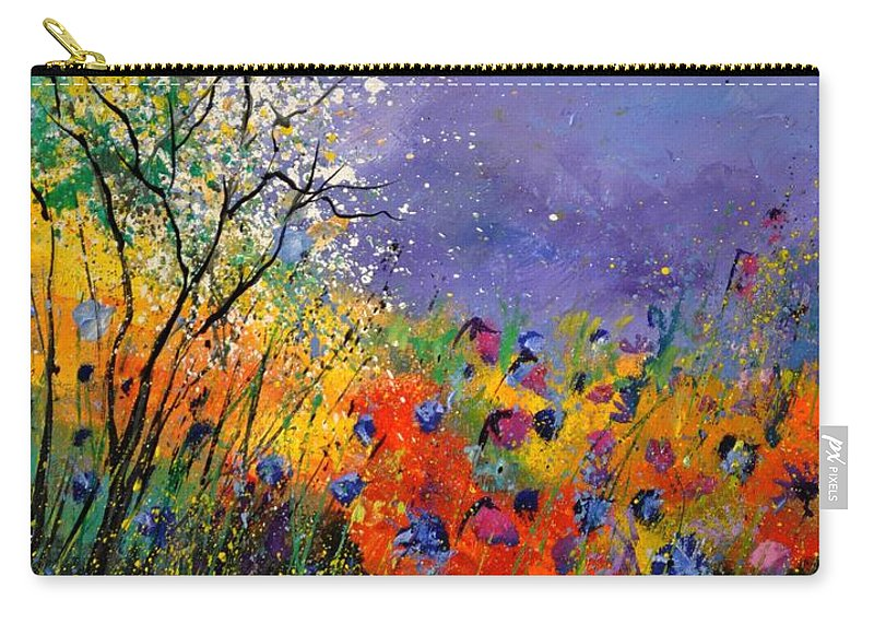 Landscape Carry-all Pouch featuring the painting Wild Flowers 4110 by Pol Ledent