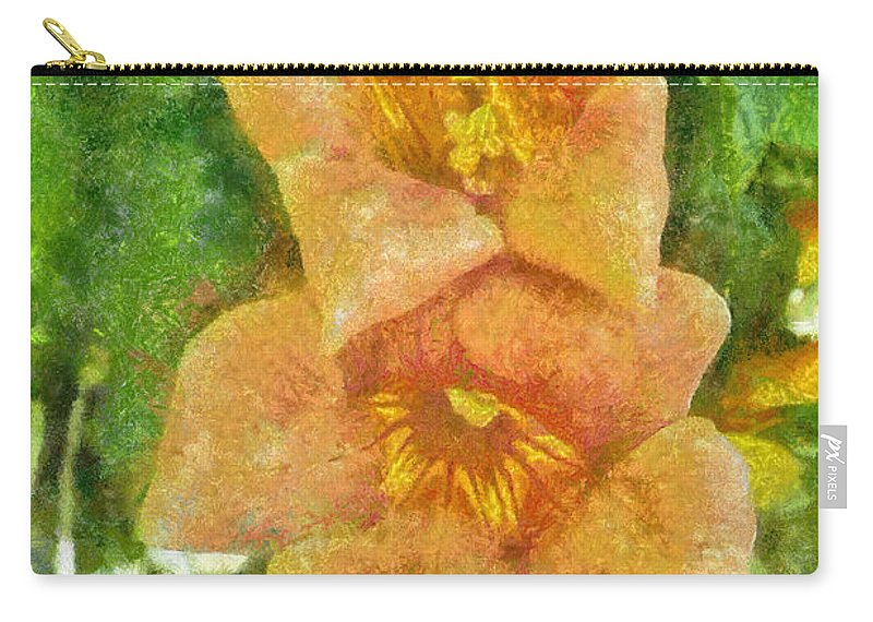 Bloom Carry-all Pouch featuring the painting Wild Flowers by Jeffrey Kolker