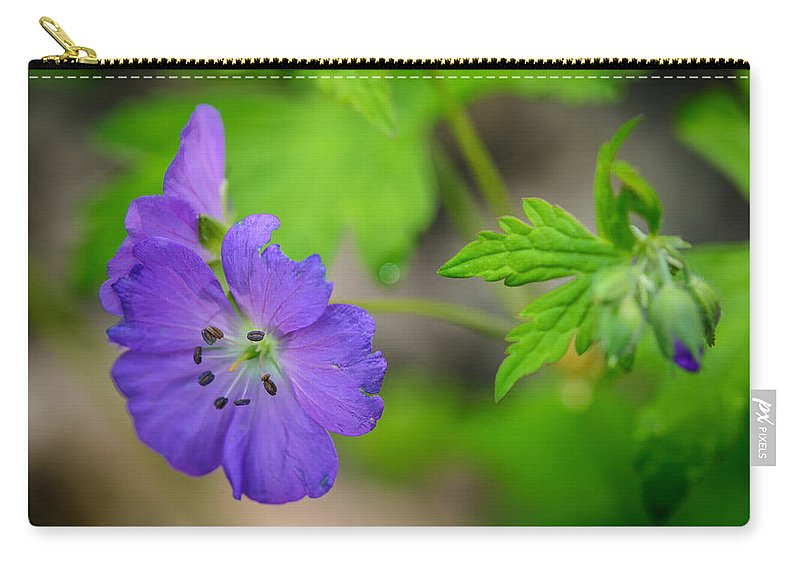 Cades Cove Carry-all Pouch featuring the photograph Wild Geranium by Charlie Choc