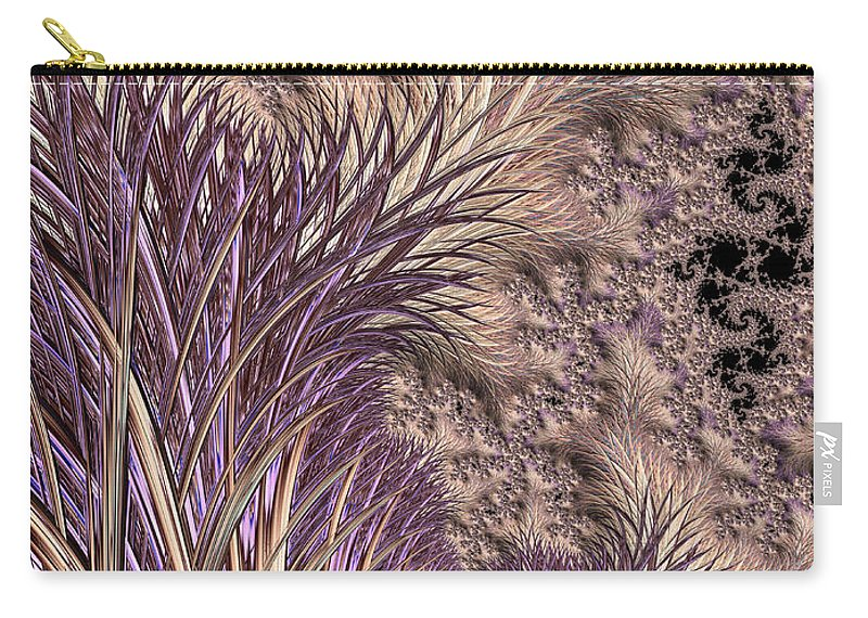 Background Carry-all Pouch featuring the digital art Wild Grasses Blowing In The Breeze by Heidi Smith