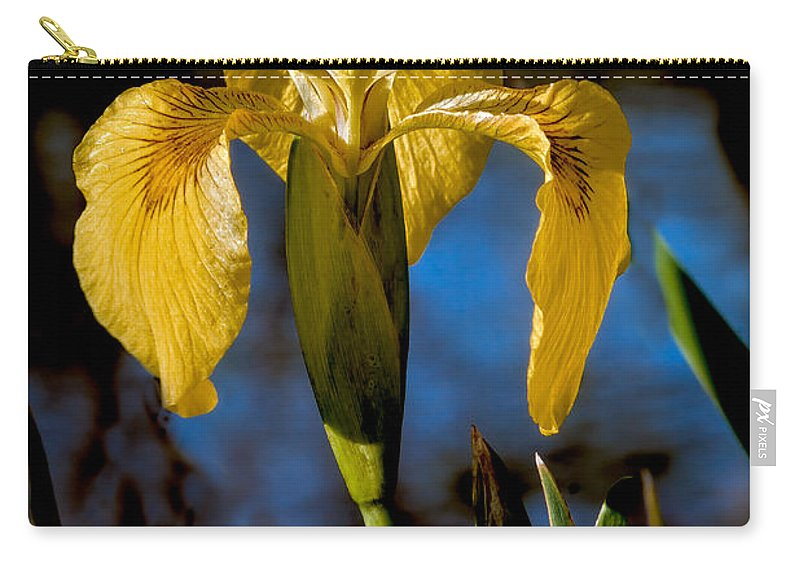 Iris Carry-all Pouch featuring the photograph Wild Iris by Robert Bales
