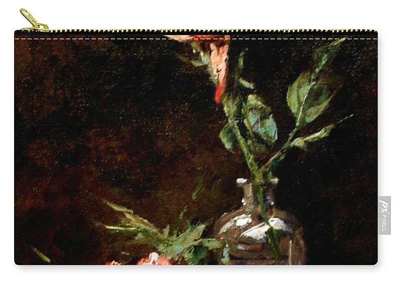 Floral Carry-all Pouch featuring the painting Wild Irish by Jim Gola