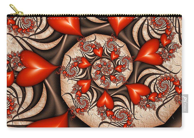 Digital Art Carry-all Pouch featuring the digital art Wild Love 2 by Gabiw Art