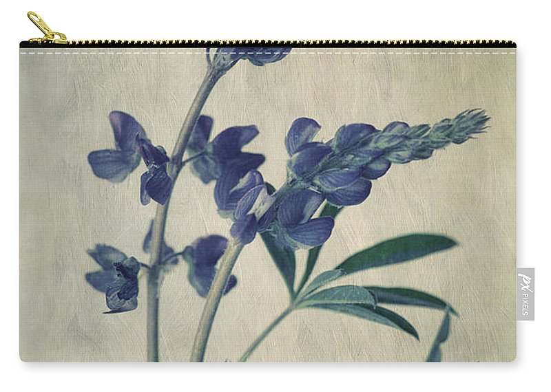 Lupine Carry-all Pouch featuring the photograph Wild Lupine by Priska Wettstein