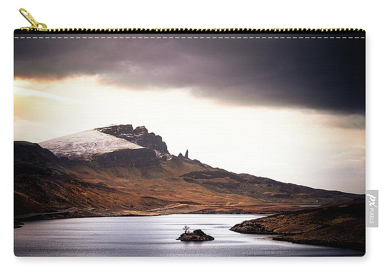 Water's Edge Carry-all Pouch featuring the photograph Wild Nature Landscape In Scotland, Isle by Zodebala