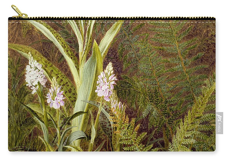 Orchid Carry-all Pouch featuring the painting Wild Orchids by Marian Emma Chase