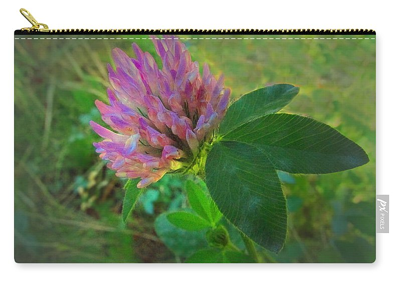 Clover Carry-all Pouch featuring the photograph Wild Red Clover Blossom by Joyce Dickens