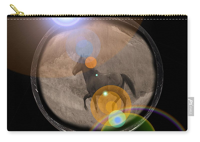 Horses Carry-all Pouch featuring the photograph Wild Stallion by Jeff Swan