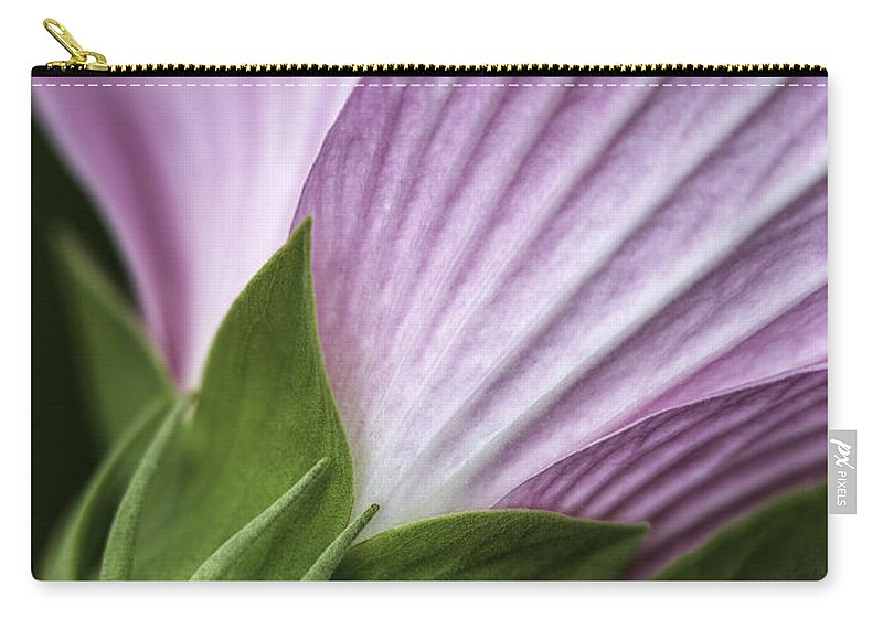 Wild Swamp Rose Mallow Carry-all Pouch featuring the photograph Wild Swamp Rose Mallow by Dale Kincaid