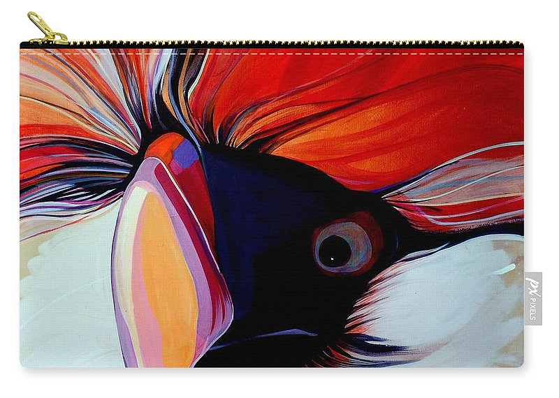 Bird Carry-all Pouch featuring the painting Wild Thang by Marlene Burns