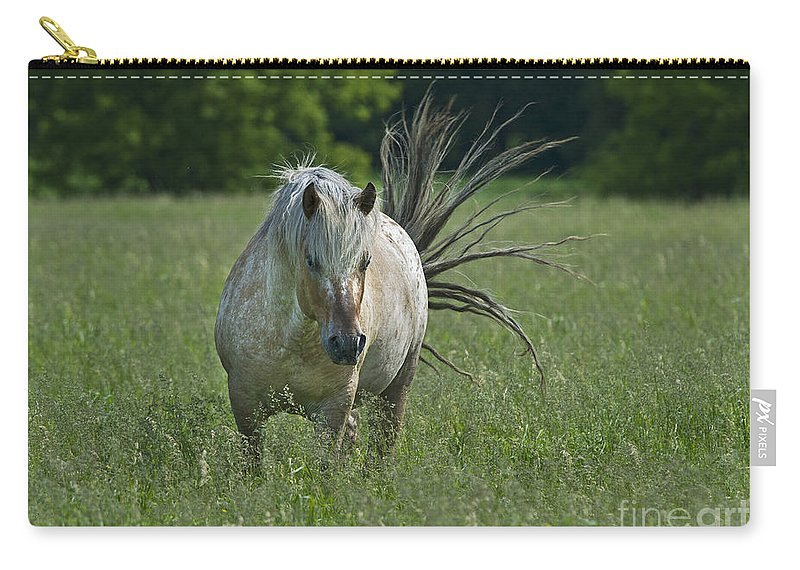 Festblues Carry-all Pouch featuring the photograph Wild Thing... by Nina Stavlund