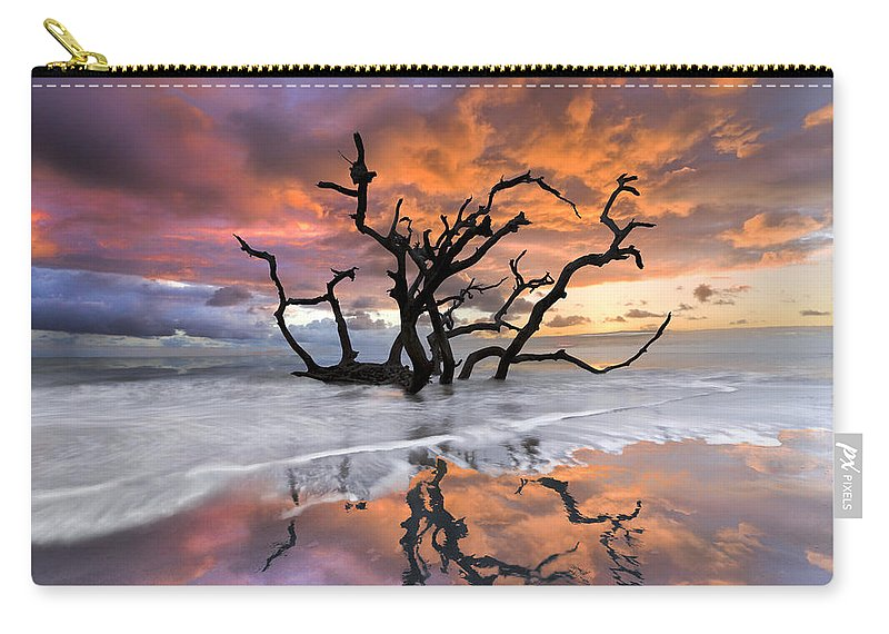 Clouds Carry-all Pouch featuring the photograph Wildfire by Debra and Dave Vanderlaan