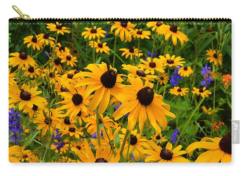 Wildflowers Carry-all Pouch featuring the photograph Wildflower Gold by Regina Geoghan