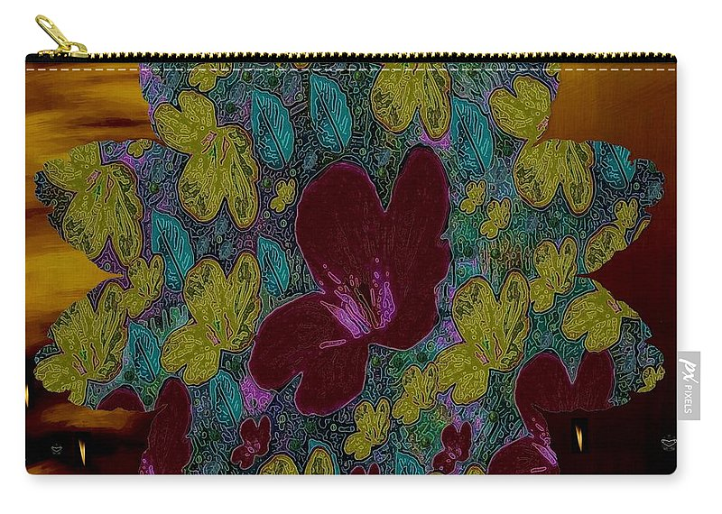 Landscape Carry-all Pouch featuring the mixed media Wildflower Into The Wilderness by Pepita Selles