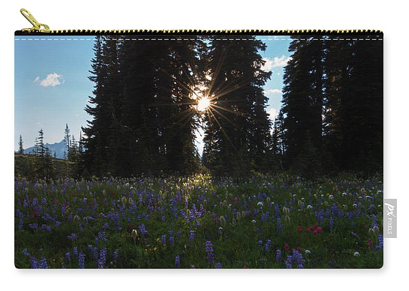 Wildflowers Carry-all Pouch featuring the photograph Wildflower Sunburst by Mike Dawson