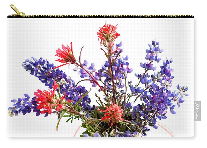 Wildflower Carry-all Pouch featuring the photograph Wildflowers by Art Block Collections