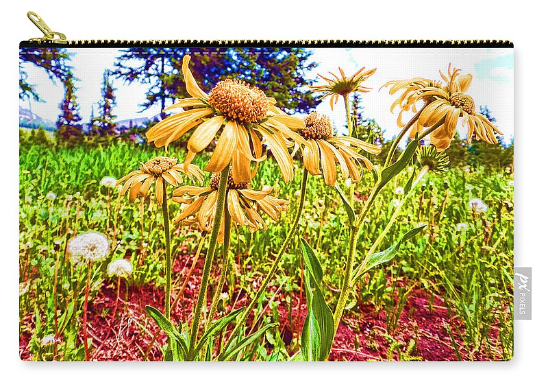 Wildflowers Carry-all Pouch featuring the photograph Wildflowers In The Wilds Of Colorado by Cathy Anderson