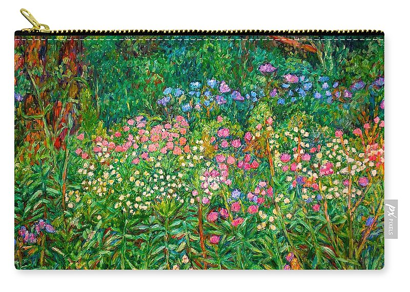 Floral Carry-all Pouch featuring the painting Wildflowers Near Fancy Gap by Kendall Kessler
