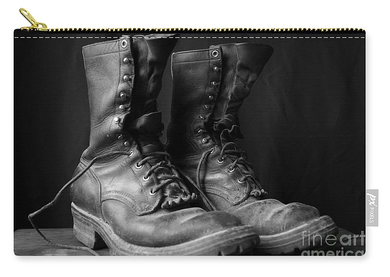 Boot Carry-all Pouch featuring the photograph Wildland Fire Boots Still Life by Kerri Mortenson