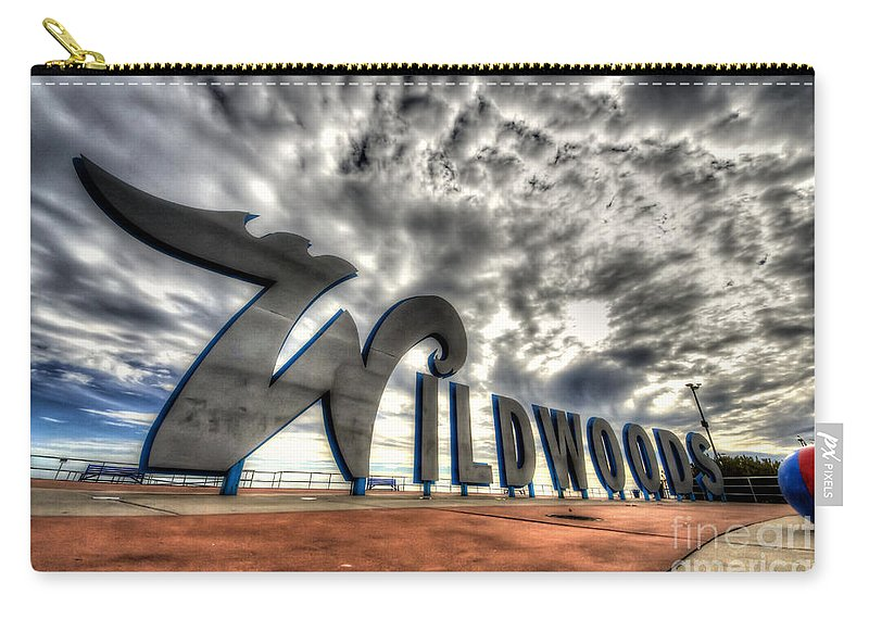'new Jersey' Carry-all Pouch featuring the photograph Wildwood by Traci Law