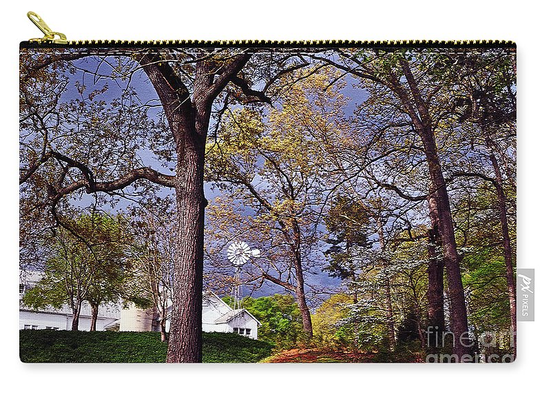 Silos Carry-all Pouch featuring the photograph Will It Rain? by Lydia Holly