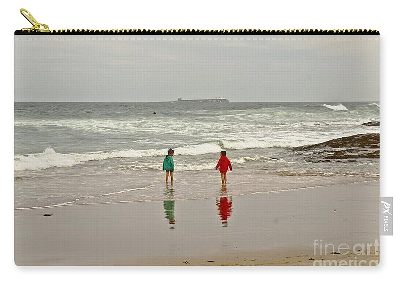Seashore Carry-all Pouch featuring the photograph Will You Dare? by Elena Perelman
