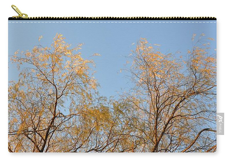 Willow Carry-all Pouch featuring the photograph Willows And Sky by Valerie Kirkwood