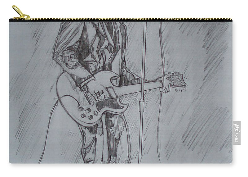 Pencil Carry-all Pouch featuring the drawing Willy Deville - Steady Drivin' Man by Sean Connolly