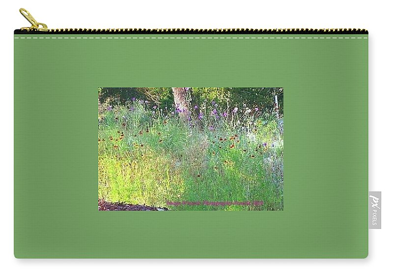 Hill Country Of Texas Carry-all Pouch featuring the photograph Wimberly Wildflowers by Pamela Smale Williams