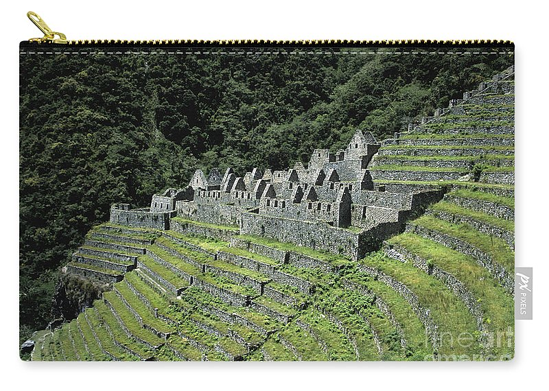 Peru Carry-all Pouch featuring the photograph Winay Wayna Inca Trail Peru by James Brunker