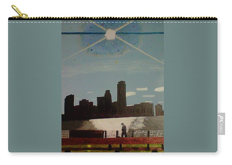 Wind Carry-all Pouch featuring the painting Wind And Spirit In Boston by Ela Earnberg