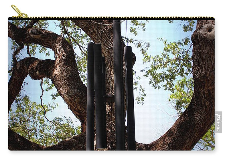 Wind Chime Carry-all Pouch featuring the photograph Wind Chime by Beth Vincent