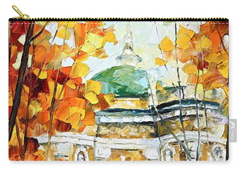 Afremov Carry-all Pouch featuring the painting Wind Of Dreams 2 by Leonid Afremov