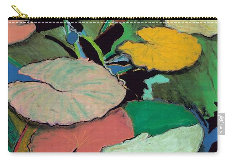 Landscape Carry-all Pouch featuring the painting Windchime Spring by Allan P Friedlander