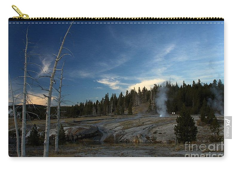 Yellowstone National Park Carry-all Pouch featuring the photograph Winding Down by Adam Jewell