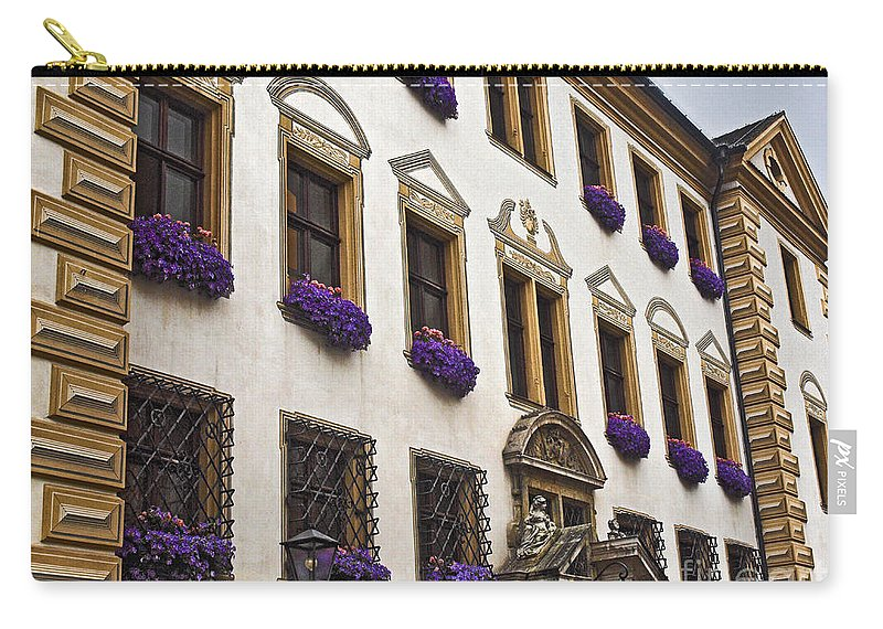 Window Boxes Carry-all Pouch featuring the photograph Window Boxes In Germany by Howard Stapleton