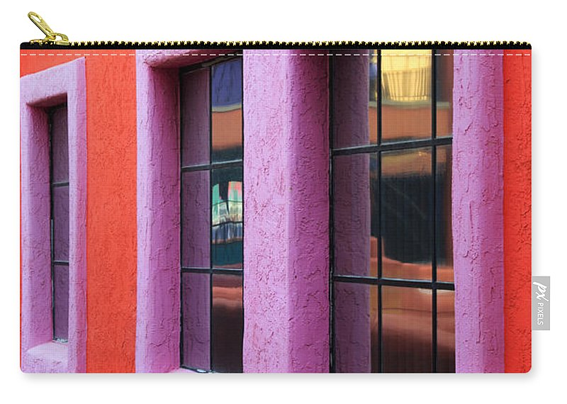 Window Reflections Carry-all Pouch featuring the photograph Window Reflections 2 by Vivian Christopher