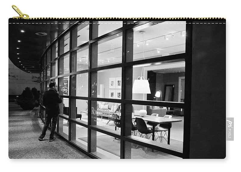 2012 Carry-all Pouch featuring the photograph Window Shopping In The Dark by Melinda Ledsome