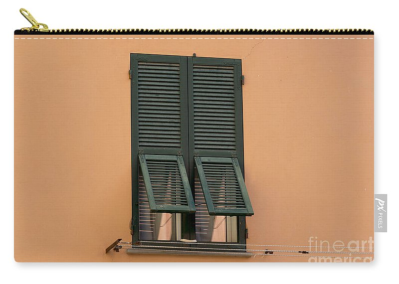 Window Carry-all Pouch featuring the photograph Window With Shutter by Mats Silvan