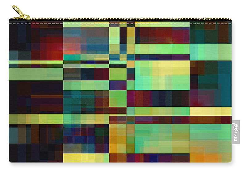 Abstract Carry-all Pouch featuring the digital art Windows 6 by Klara Acel