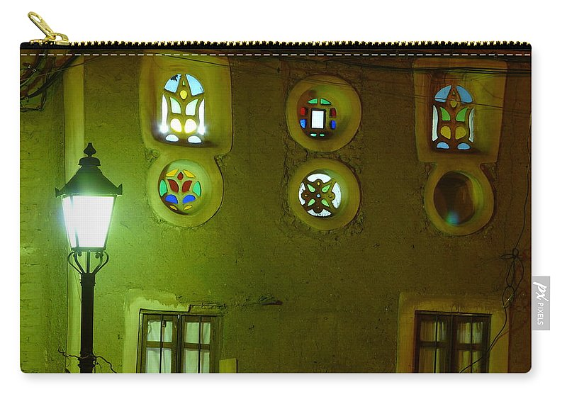 Architecture Carry-all Pouch featuring the photograph Windows Of Sanaa by Ivan Slosar