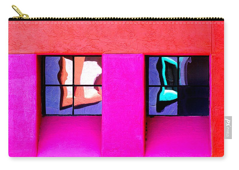 Arizona Carry-all Pouch featuring the photograph Windows Reflected by CJ Middendorf